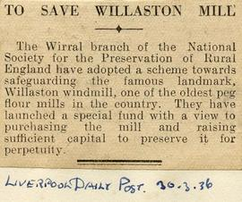 """To save Willaston mill"""