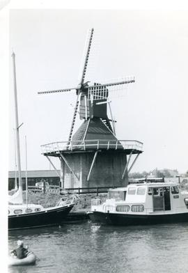 "Preserved ""spider"" mill at Joure, Holland, 1971"