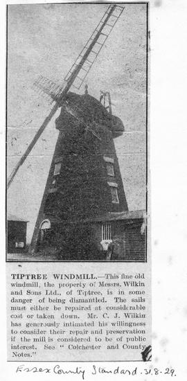 """Tiptree Windmill"""