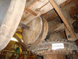 Crownwheel and sack hoist drive, Upminster Windmill, Upminster