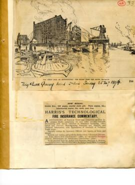 Great fire at Rotherhithe and an advert for Harris's Technological fire insurance commentary