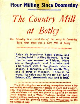 """The Country Mill at Botley"""