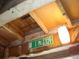 Ceiling of spout floor with sack trap, Stocks Mill, Wittersham
