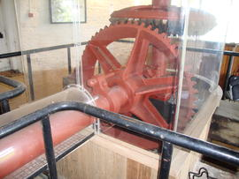 Scoopwheel shaft, pit wheel and crown wheel, High Mill, Berney Arms