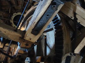 Brakewheel and cap frame, Stansted Windmill, Stansted Mountfitchet
