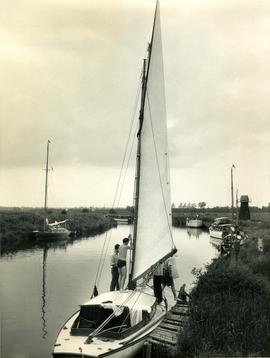 Mooring at Ludham Bridge on the River Ant, Norfolk