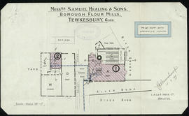 Plan of Healing and sons Borough Mill, Tewkesbury