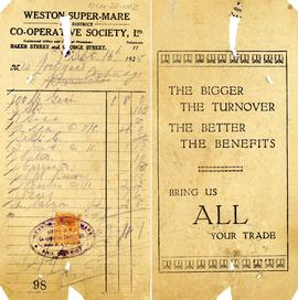 Bill to Mrs Lockyer from the Weston Super-Mare Co-operative Society