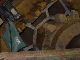Brakewheel mounting, post mill, Chinnor