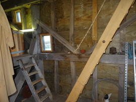 Stone/spout floor right side framing, post mill, Chinnor