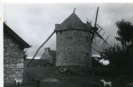 Preserved tower mill at Mont-Dol, Brittany, France, 1970