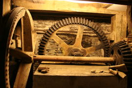 Bridgetown Mill - pit wheel and lineshaft gearing