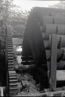 """Writtle mill wheel and outside gearing"""