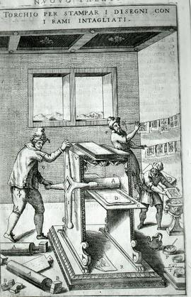 """Zonca 1607, Copperplate roller press"""