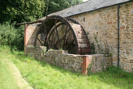 Church Farm, Corton Denham  - waterwheel