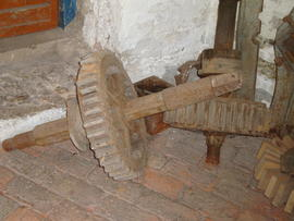Unidentified items of gearing stored on ground floor, Impington Mill, Histon and Impington