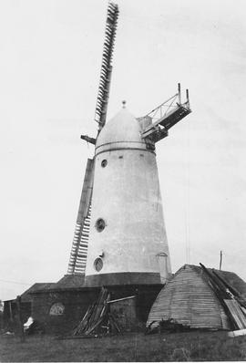 Stone Cross Tower Mill, Stone Cross, two working sails, remains of fantail, rear