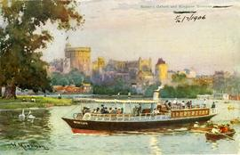 """Salter's Oxford and Kingston Steamer passing WINDSOR"""