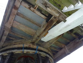 Underside of buck, post mill, Chinnor