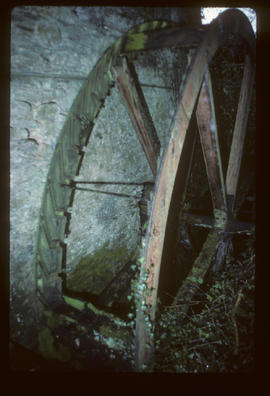 Venton Mill, Dartington, Devon, waterwheel shrouds