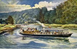 """Salter's Oxford and Kingston Steamer passing CLIVEDEN"""