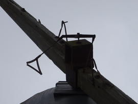 Poll end, spider and triangles, tower mill, Upper Dean