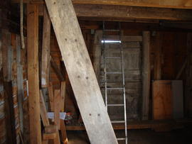 Spout floor tail framing and door, post mill, Friston, Suffolk