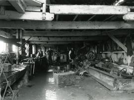 Unidentified watermill - interior workshop