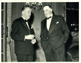 Two Men pictured at the Dorchester Hotel, Park Lane