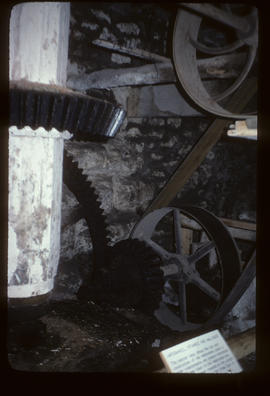 View of the Waterwheel, Pitwheel and Wallower, Heron Mill, Beetham, Cumbria