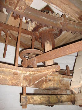Great spur wheel, stone nut and tentering gear, tower mill, Old Buckenham