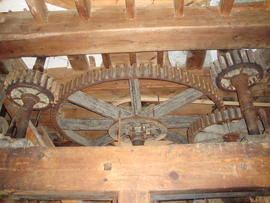 Great spur wheel, stone nuts and auxiliary drive, Buttrum's Mill, Woodbridge