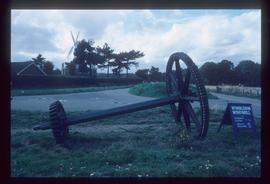 Wallower, upright shaft and great spur wheel on ground