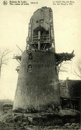 """The ruins of Leke 1914-1918 Van den Bergh's Mill"""