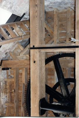 Spur wheel and ladder, French's Mill, Chesterton
