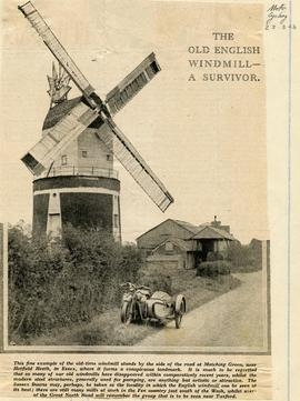 """The old English windmill - a survivor"""