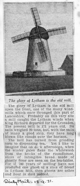 """The glory of Lytham is the old mill"""