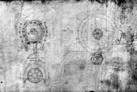 Unidentified water wheel drawings