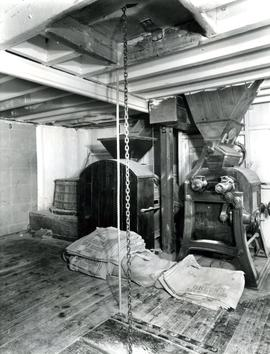 First floor showing sack hoist, Castle Mill, Beccles, Suffolk