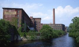 """Lowell, USA, Massachusetts Mills & Concord River"""