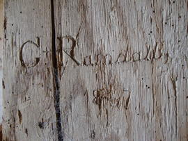 Name and date on timber, Great Mill, Haddenham
