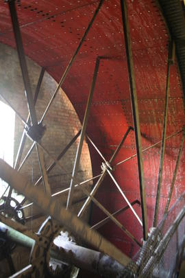 Clapton Mill - waterwheel by Coombs with new sole plates