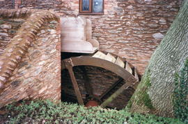 St Michael's Mill, overshot waterwheel