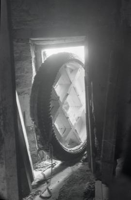 """Bradwell, Bucks - brakewheel from Bozeat Windmill, Northants"""