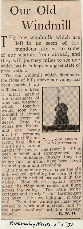 """Our old windmill"""