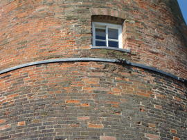 Band around tower to prevent cracking, Stansted Windmill, Stansted Mountfitchet
