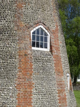 Detail of tower, Friary Mill, Blakeney