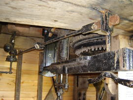 Great spur wheel and tentering gear, post mill, Chillenden