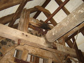 Brakewheel and sack hoist drive stage(1), post mill, Madingley