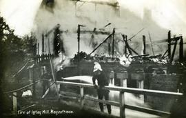 """Fire at Iffley Mill. May 20th 1908"""
